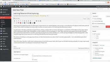 Screenshot of the Wordpress backend