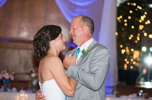 Katie and her dad during the father-daughter dance