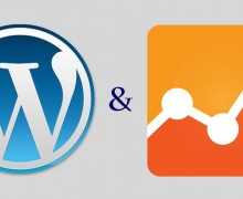 The Wordpress logo and the Google Analytics Logo