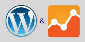 The WordPress logo and the Google Analytics Logo