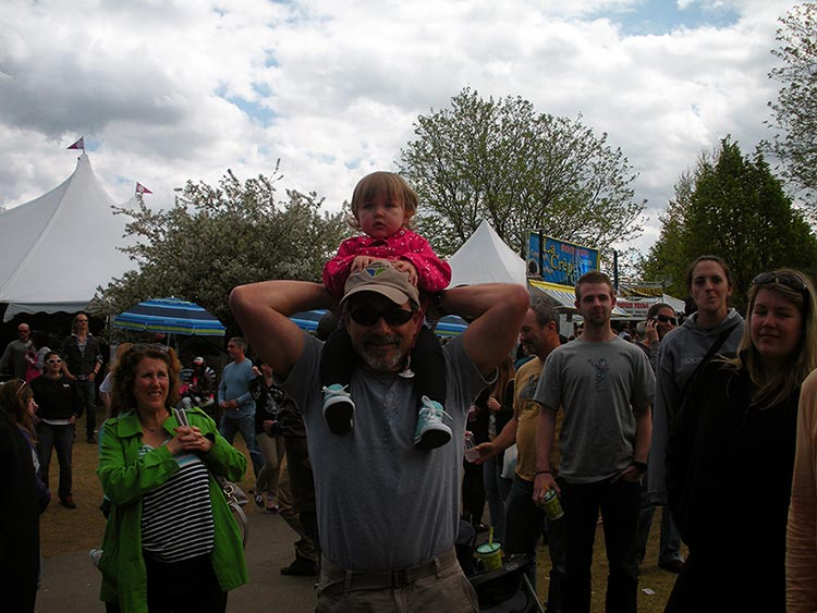 Addy on Uncle Mike's shoulders