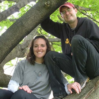 Katie and Jason in the tree