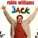 "Robin Williams on the cover of the film ""Jack"""
