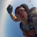 Jason in free fall while tandem skydiving with Skydive CNY