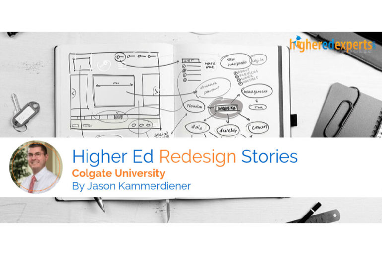 Screenshot of the header from the Higher Ed Experts Story